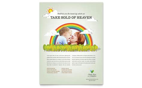 foster care adoption flyer template design