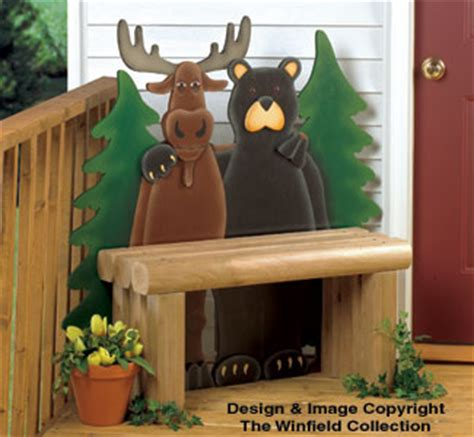 bear moose decor northern pals bench wood plans