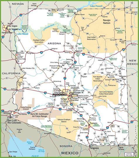 mapas detallados de arizona  descargar gratis  imprimir