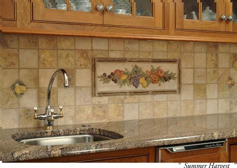 Ceramic Tile Kitchen Backsplash Murals From Ceramic Tile