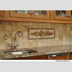 Ceramic Tile Kitchen Backsplash Murals From Ceramic Tile