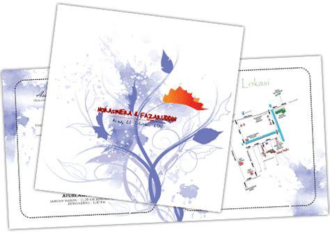 contoh undangan pernikahan abstrak fullcolor kamajaya