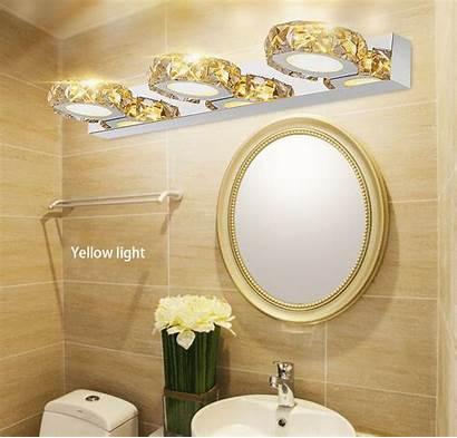 Mirror Bathroom Led Modern Crystal Switch K9