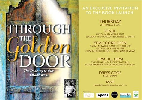 The 1st Book Launch Event invitation card I will never
