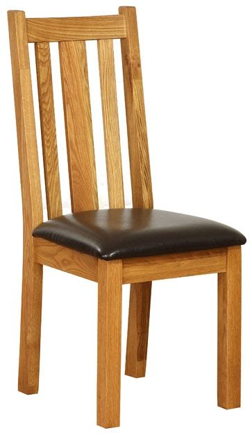 vancouver oak dining chairs with chocolate leather