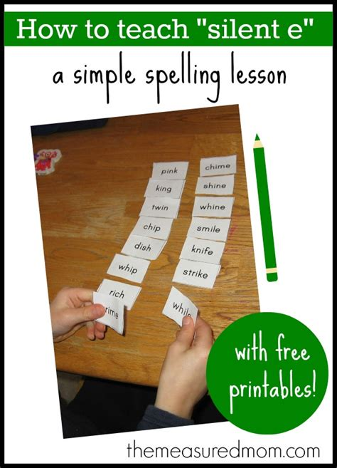 Silent E Spelling Activity  The Measured Mom