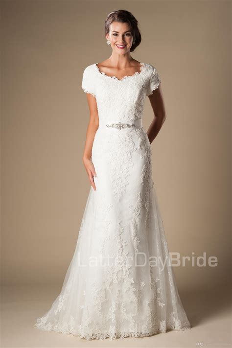 Brautkleider online shop, schneller versand. Großhandel Meerjungfrau Modest Brautkleider Mit Ärmeln ...
