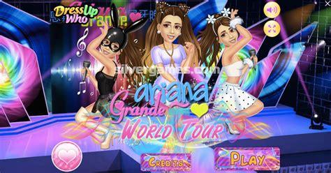 ariana grande dress  fancy hair  costume dress  game