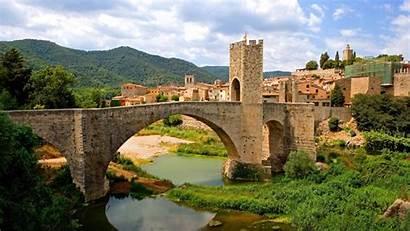 Spain Wallpapers Tuscany Desktop Definition Besalu Catalonia