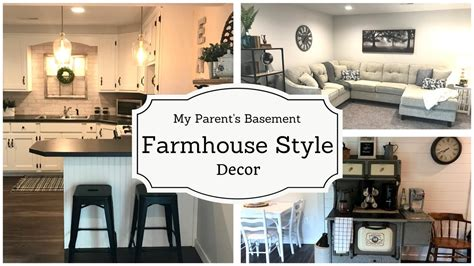farmhouse style decor basement project episode  youtube