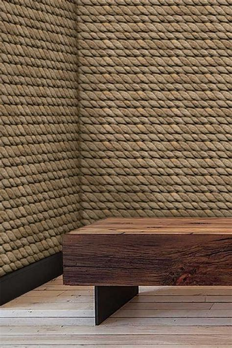 hemp rope eco friendly wallpaper   hemp wall