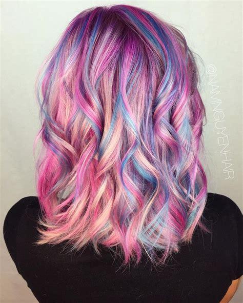 unicorn hair color unicorn hair look magical this summer festival hair trends