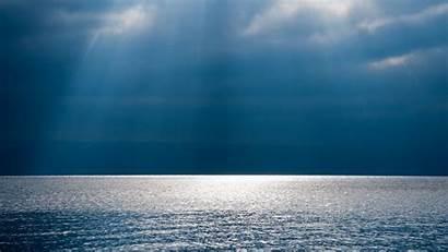 Ocean Calm Sky Water Wallpapers Cloudy Wide