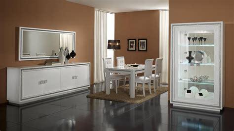 buffet de cuisine noir salle à manger complète design laquée blanche perla