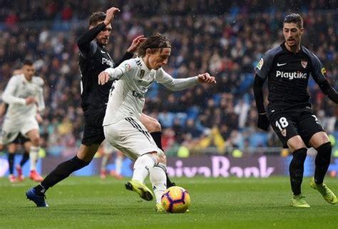LaLiga match report Real Madrid v Sevilla 19 January 2019