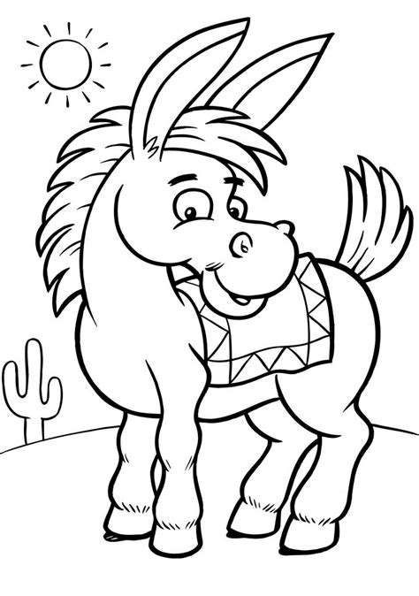 Free Coloring Page Free Printable Donkey Coloring Pages For Kids