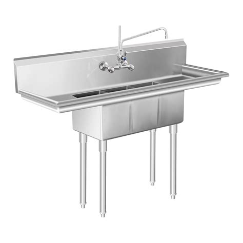 three basin kitchen sink sink large kitchen sink unit 3 basin stainless 6104
