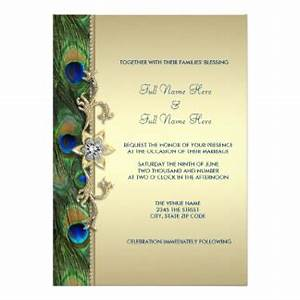 peacock wedding invitations announcements zazzle canada With royal blue indian wedding invitations