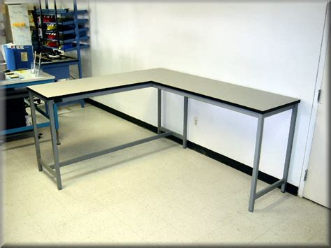 long l shaped desk l shaped tables at rdm industrial products la 109p
