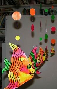 poisson peinture a l39eau et crayon feutre noir poisson d With couleurs chaudes et froides 15 animaux imaginaires