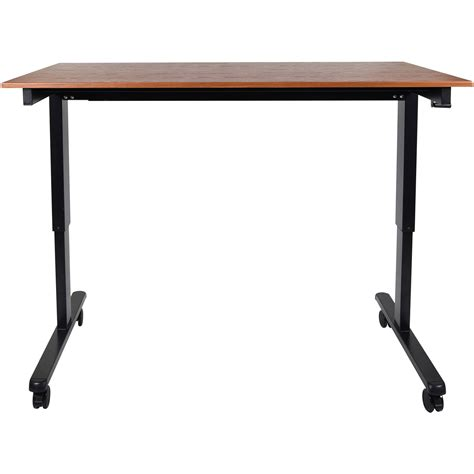 luxor 60 quot crank adjustable stand up desk standcf60 bk tk