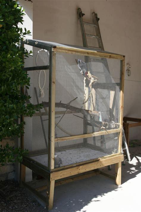 voliere exterieur fait maison la cage voli 232 re des grisous
