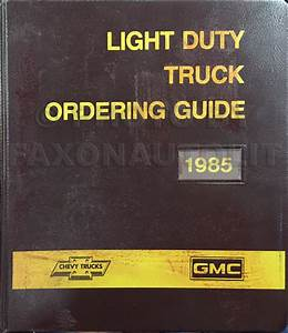 1985 Gmc S15 Chevy S10 Wiring Diagram Original Pickup