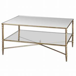 henzler mirrored glass coffee table from uttermost 24276 With henzler coffee table
