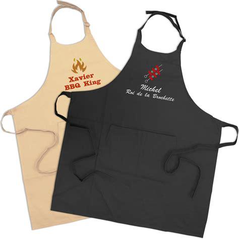 tablier de cuisine à personnaliser tablier barbecue personnalisé amikado