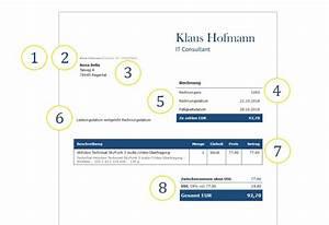 Unbestellte Ware Erhalten Ohne Rechnung : eine professionelle rechnung schreiben deutsche rechnungsvorlage ~ Themetempest.com Abrechnung