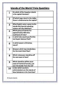 islands   world trivia questions quiz