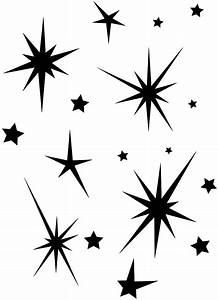 Stars Silhouette   Free vector silhouettes