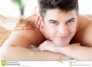 Beautifu Man Enjoying A Back Massage Stock Image - Image ...