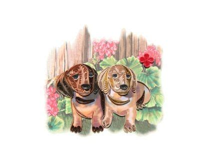 dachshund clube paper quilling cards quilling cards