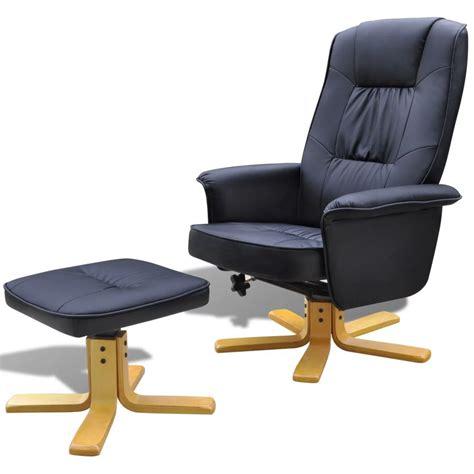 pied fauteuil de bureau fauteuil en cuir artificiel avec repose pied blanc crème noir fauteuil de bureau ebay