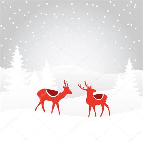 Retro christmas card invitation with reindeer vector