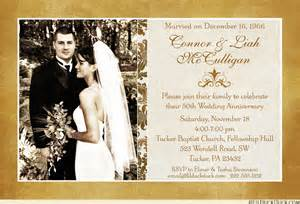 golden wedding anniversary invitations simple photo 50th anniversary invitation 50 years gold