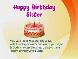 61, Unique, Happy, Birthday, Wishes, For, Sister, With, Images