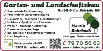 Michael Gerhard Garten Landschaftsbau Berlin gartenbau gartengestaltung und baumpflege berlin