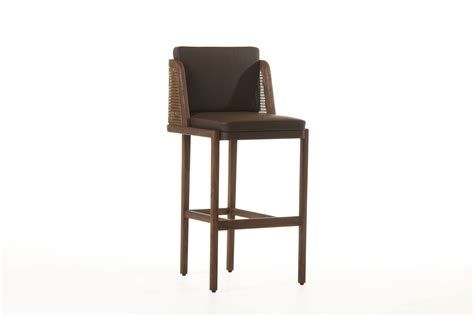 272p throne breakfast bar stool with rattan