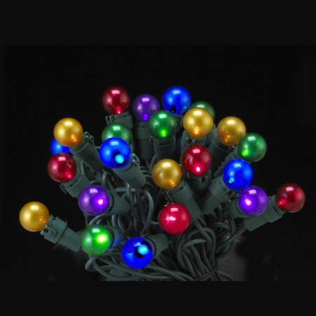 pearl christmas lights set of 50 led multi colored pearl glass g15 berry lights green lights walmart