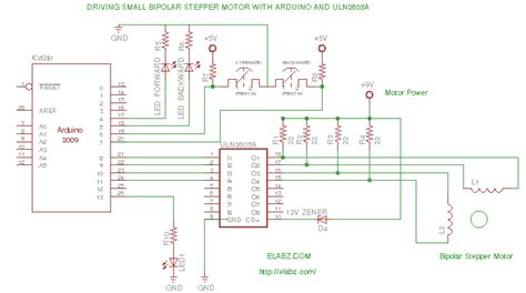 driving a bipolar stepper motor with arduino and uln2803ag