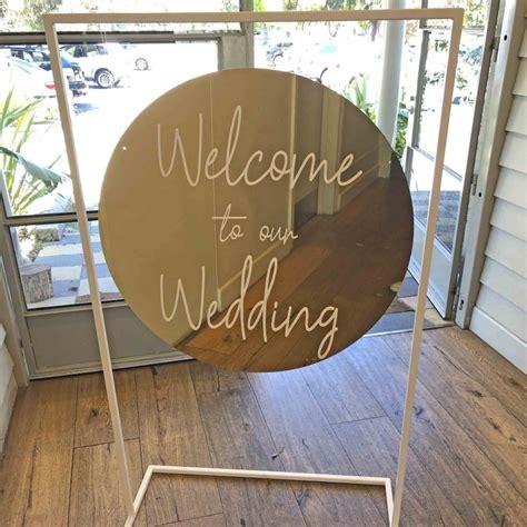 gold wedding signage  stand  melbourne wedding hire