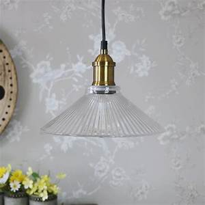 Clear ribbed glass industrial ceiling light melody maison?
