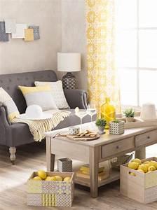 Canapé Jaune Maison Du Monde : focus couleur le jaune dans la d co le blog d co de maisons du monde ~ Teatrodelosmanantiales.com Idées de Décoration