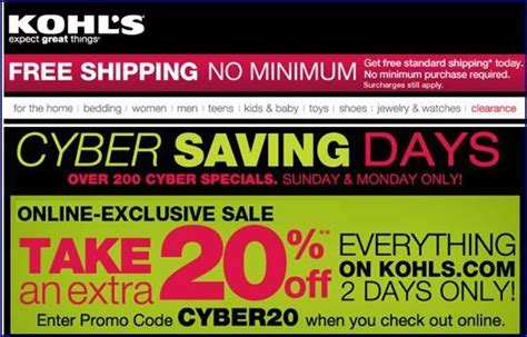 Kohl's Free Shipping Code No Minimum