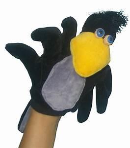 Marionnette à Main : marionnette corbeau marionnette gant corbeau ~ Teatrodelosmanantiales.com Idées de Décoration