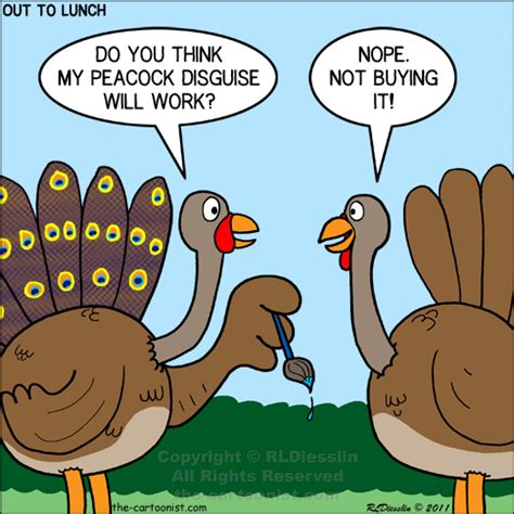 Funny Thanksgiving Meme - otl cartoon turkey tactics november 21 2012