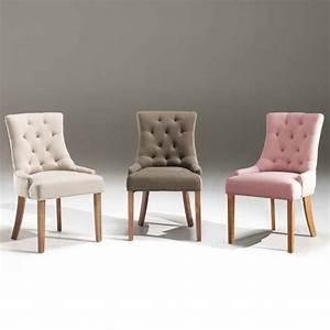 Chaise Capitonnée Grise : chaise rose moderne en tissu sofamobili ~ Teatrodelosmanantiales.com Idées de Décoration