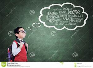 Elementary Student Thinking His Ideals Stock Photo - Image ...
